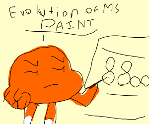 Darwin's theory of the evolution of MS paint