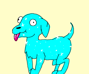 Sparkling Blue Dog