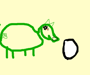 Green Pig hates egg