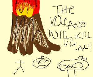 Volcano decapitates ppl