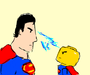 Superman vs Bald lego Superman
