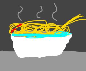 Spaghetti Monster Bathing