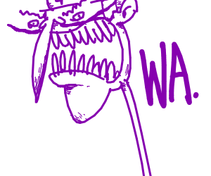 waluigi with a long neck