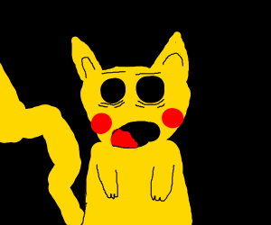 traumatized Pikachu