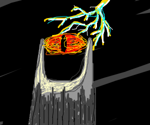 The eye of sauron getting struck electrocuted