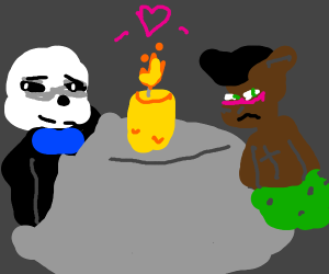 Sans and Aaron go on a date (Undertale)