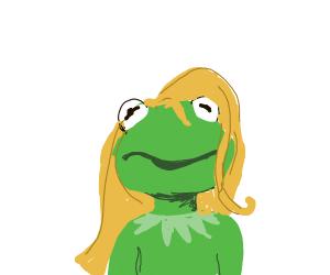 Kermit with gergous hair