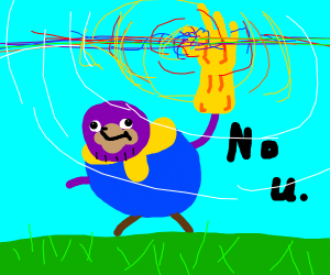 Ugandan Thanos destroys half the universe