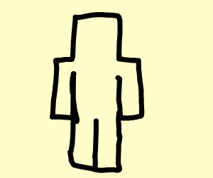 Outline of a block man