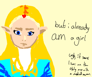 Zelda as a girl
