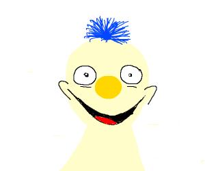 creepy yellow elmo