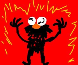 Burning Communist Elmo
