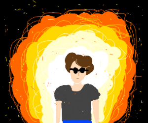Tough guys don't look at explosions