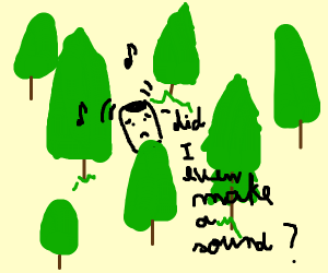 If a phone rings in the forest...