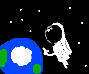 Astronaut is angry at Antarctica
