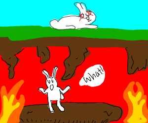 bunny goes to hell rather than heaven