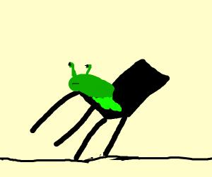 Slug sits on a falling chair
