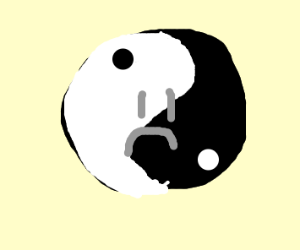 Yin yang is disappointed