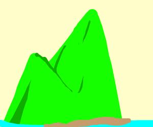 Green mountain island