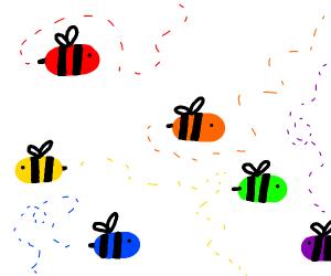 Multicolor bees
