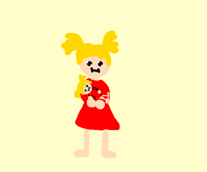 girl holding a small girl