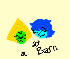 Lapis and Peridot at the barn