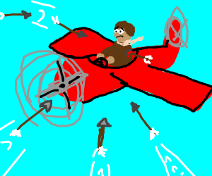 This pilot is attacked by arrows!