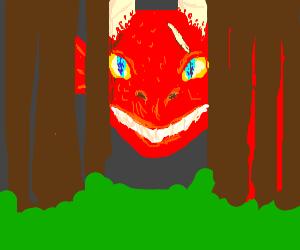 dragon in dense forest