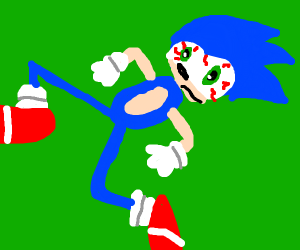 Sonic on drugs