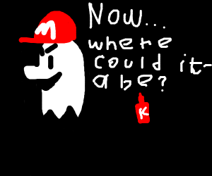 ghost mario searching ketchup