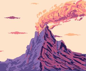 Pastel volcano