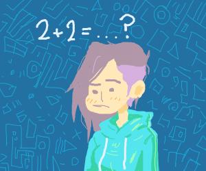 a girl cant do math