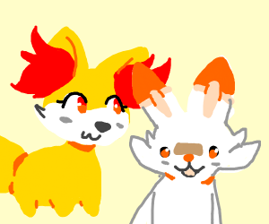 Fennekin and Scorbunny (Pokemon)