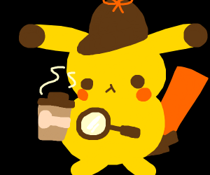 detective pikachu but he doesn't have arms