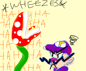 Waluigi is mad at Piranha Plant