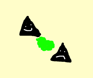 triangle farts on another triangle
