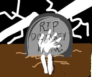 A dead Donkey Kong
