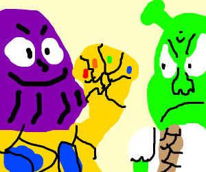 Thanos vs. shreck