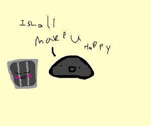 Rock bucket I will improve your life