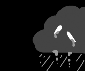 Crying raincloud