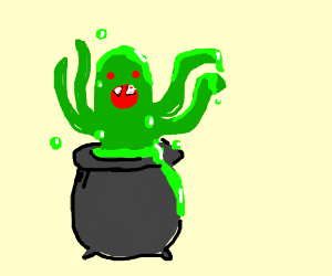 Monstrous creature is created from cauldron