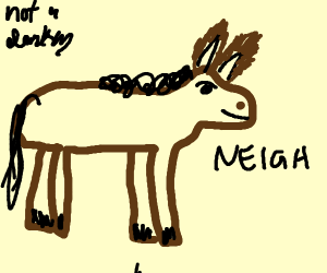 Horse with rabbit ears