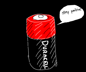 duracell battery says stay positive