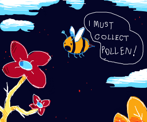 Bee must collect pollen