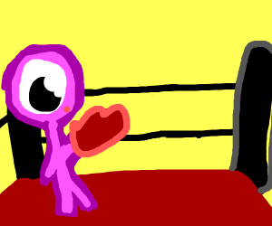 Pink person boxing