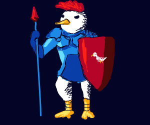 Badass Red/Blue knight from Chicken Kingdom