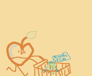 ape buying bananas