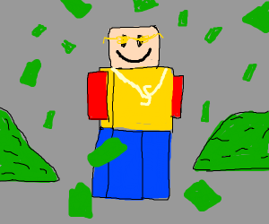 robloxian with bling