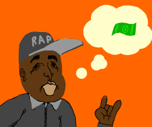 Rapper thinking about money