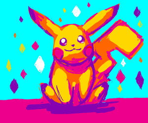 pikachu sitting and looking cute aww